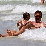 Adriana Lima Hits the Beach in Her Bikini With Her Husband and Daughter