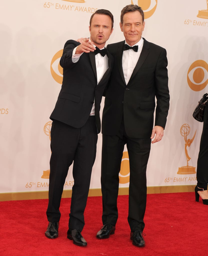 Aaron Paul posed for photos with Bryan Cranston.