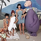 Kanye West Dressed Up as Dino, While Saint Dressed as Fred Flintstone and Psalm Went as Bamm-Bamm