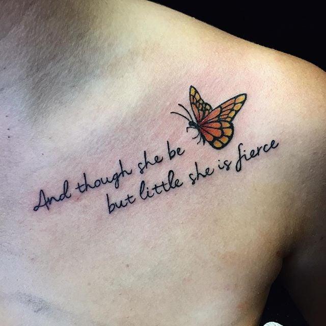 Collarbone Quote Tattoos Popsugar Love Sex