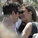 Marion Cotillard and her partner, Guillaume Canet, kissed at the Cannes Film Festival.