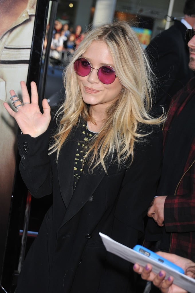 Mary-Kate showed off her groovy side in round pink sunglasses at The Hangover's premiere in 2009.