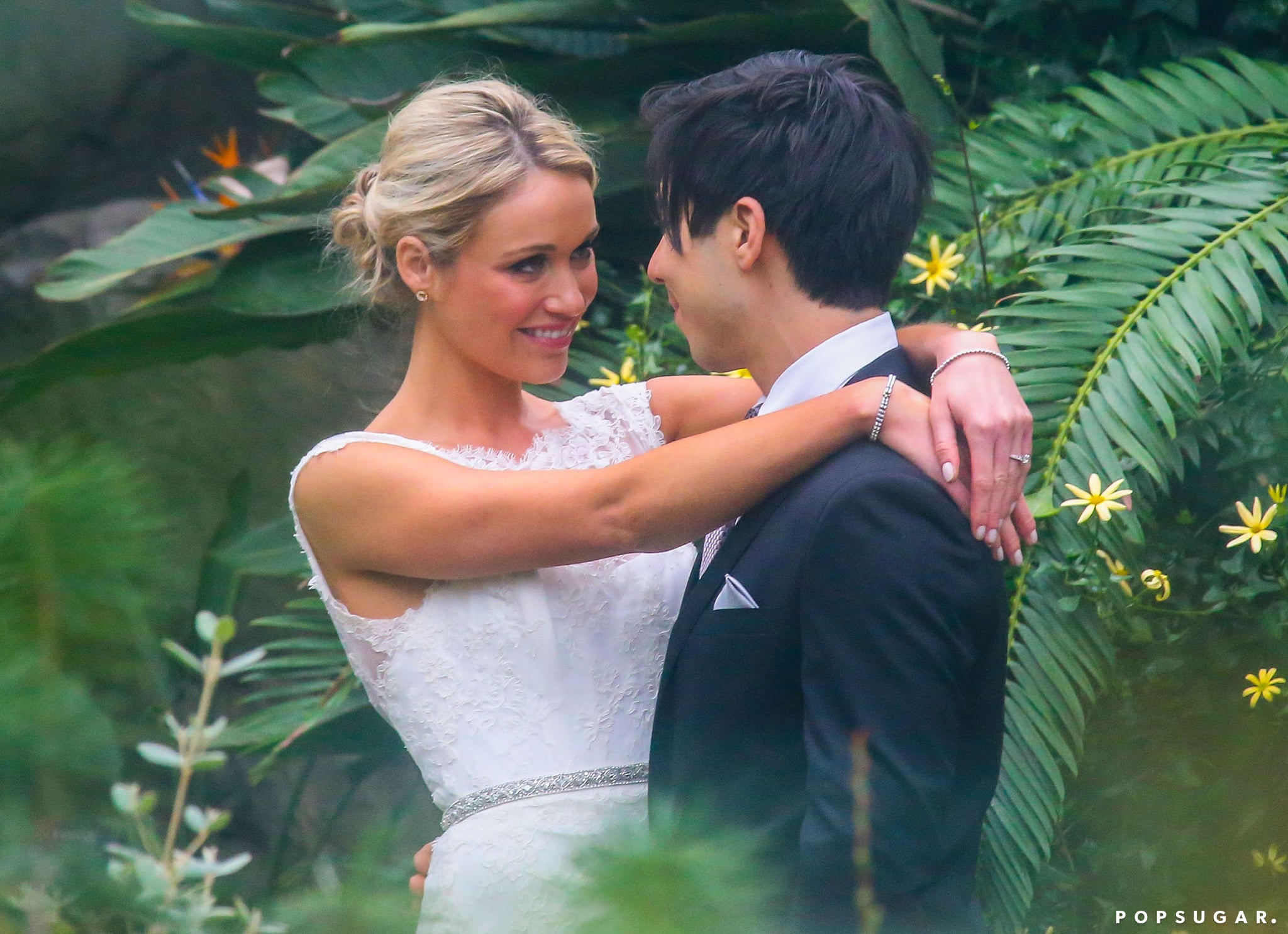 Katrina Bowden shared a look of love with husband Ben Jorgensen on their wedding day.