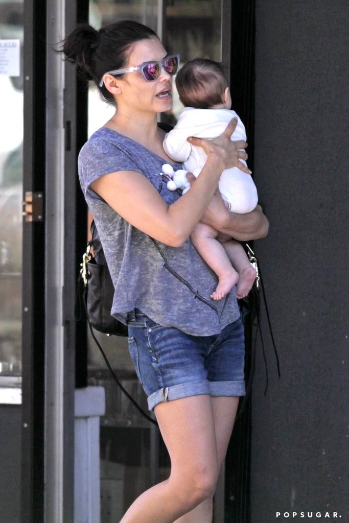 Jenna Dewan cradled her daughter, Everly Tatum, in her arms during an outing in Canada.
