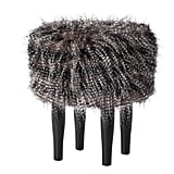 Striated Faux Fur Stool ($65)