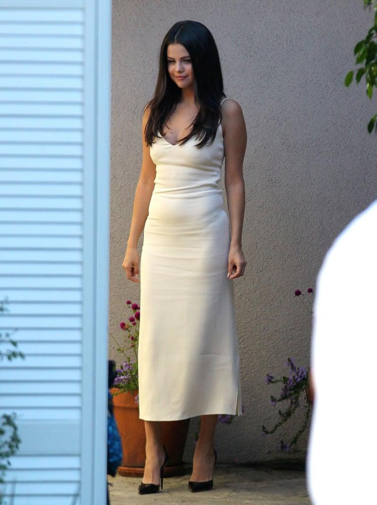 Selena Gomezs Sexy Slip Dress  Popsugar Latina-8634