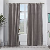 west elm Velvet Grommet Curtain — Dove Gray ($79)