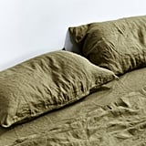 In Bed 100% Linen Pillowslip Set in Moss ($85)
