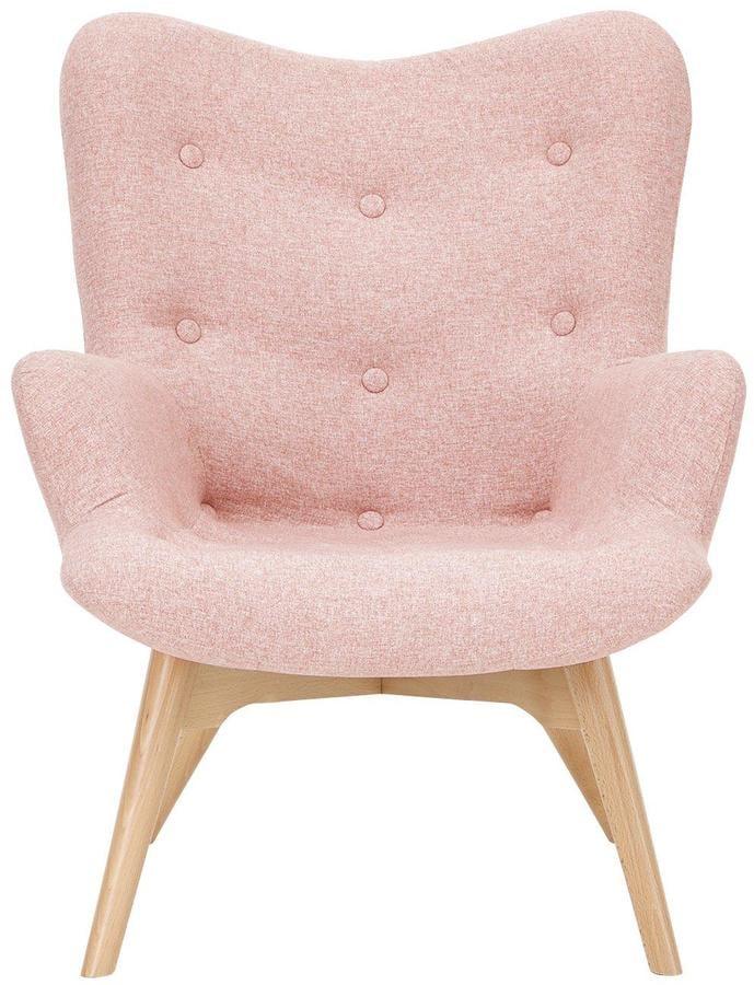 Ideal Home Papillion Contour Fabric Accent Chair | Pink Accent ...