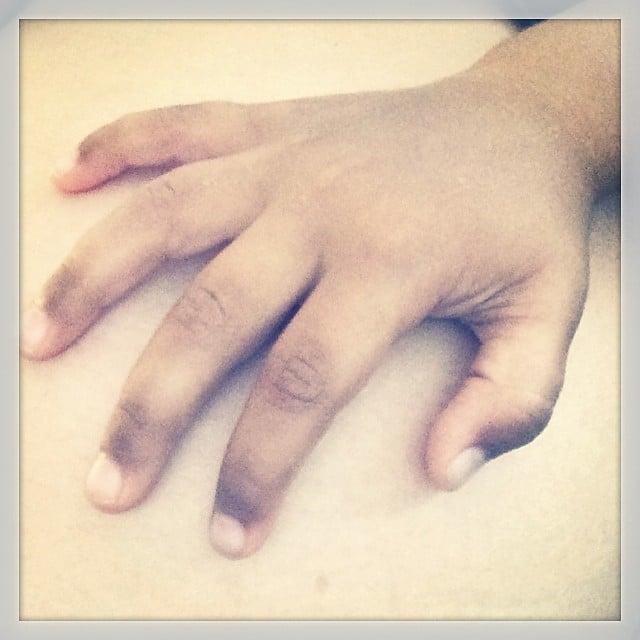 Phyllon Joy Gorré felt his baby brother or sister kicking inside his mom, Doutzen Kroes. Source: Instagram user doutzen