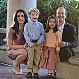 Preston Karwat and Briella Wintraub as Prince George and Princess Charlotte