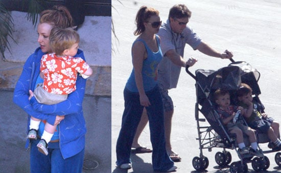 Britney Pays Up and Plays With Her Sons