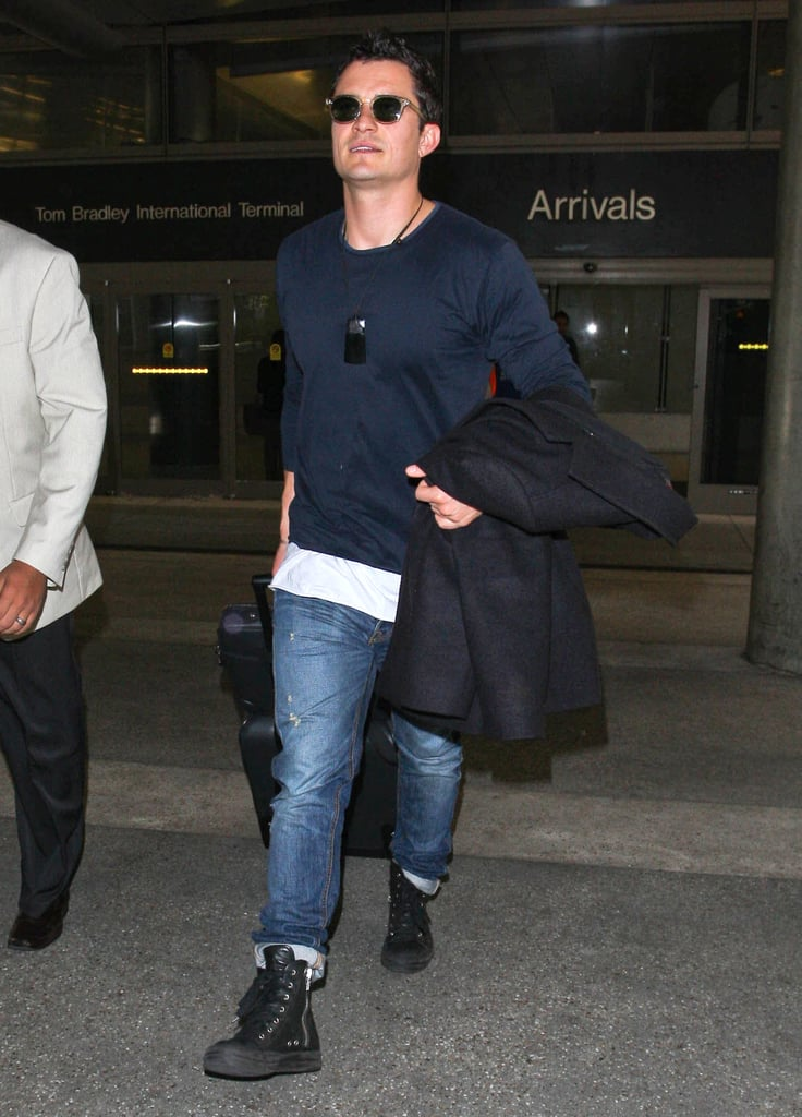 Orlando Bloom left the airport.