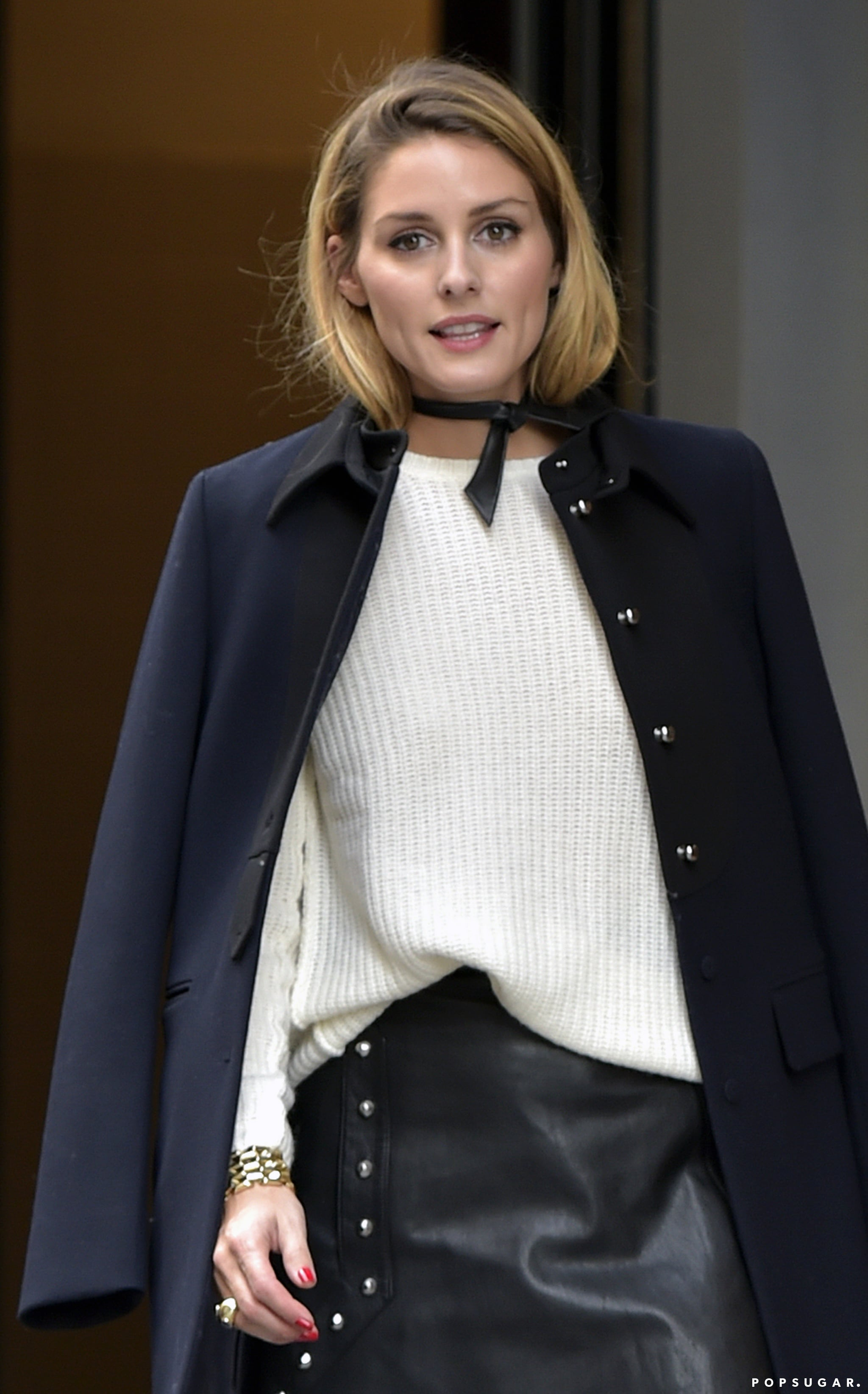 992840855ec Olivia Palermo's New Choker Sort of Looks Like a Neck Scarf | Olivia ...