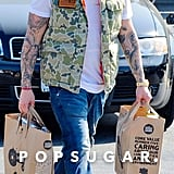 Joel Madden went grocery shopping in LA on Thursday.