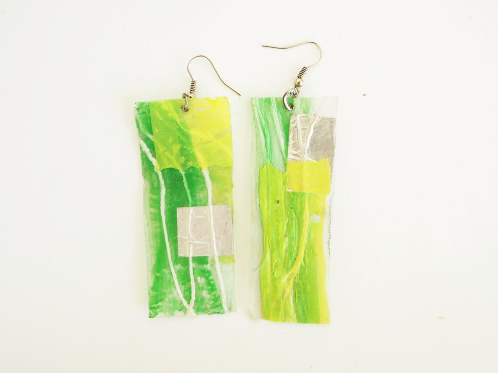 Plastic Bag Earrings