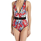 Diane von Furstenberg V-Neck One-Piece