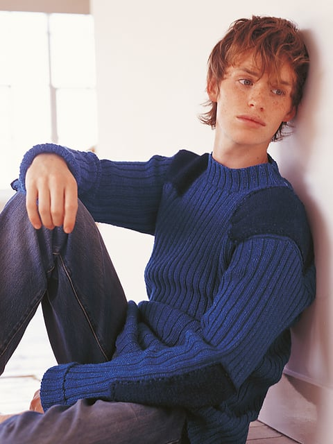 Before Eddie Redmayne was a married man and Oscar-winning actor making us melt with a single look, he was making a living as a knitwear model. Back in 2004, a 22-year-old Eddie put his boyish charms to good use to model jumpers for Rowan Yarns' Denim People, a knitting pattern book. While the handknits might look a little retro now, at least modelling for a knitting book is less embarrassing than taking part in a Japanese underwear photo shoot (just ask Robert Pattinson). Keep reading for all the shots of Eddie modelling some slightly questionable knits! RELATED  Who Is Eddie Redmayne's Wife, Hannah Bagshawe? Eddie Redmayne Looks Completely Different in His Next Role as a Transgender Woman The 55 Best Pictures From the Oscars! Which Guy Really Stood Out in His Suit at the Oscars? See Which Stars Let Their Hair Down at Vanity Fair's Oscars Afterparty!