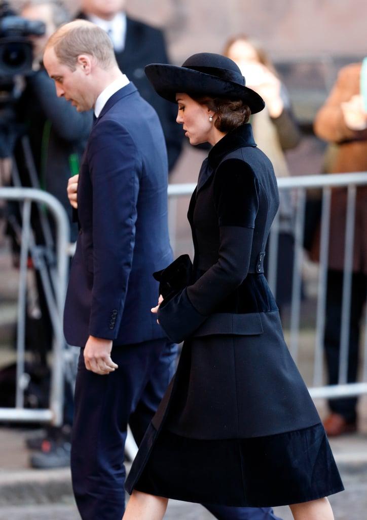 Kate Middleton Alexander McQueen Coat Memorial Service ...