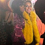 "Beyoncé Knowles and Kelly Rowland film the video for ""Party"" in NYC."