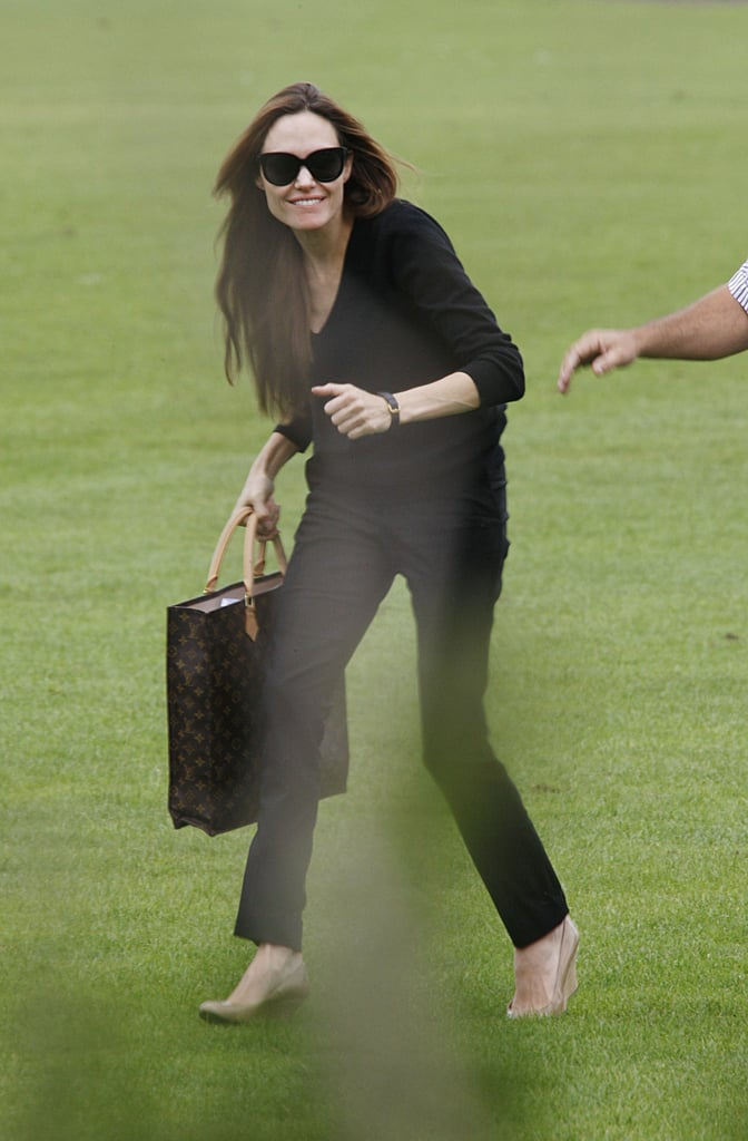 Angelina Smiles Big as She Returns From a Romantic Night Off Visiting Brad