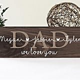 Rustic Wood Dad Sign