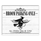 Designs Direct Broom Parking Only Canvas Wall Art