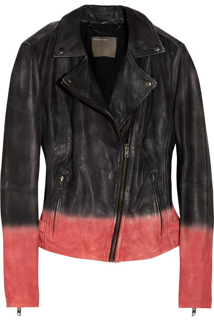 Muubaa Black and Pink Dip-Dye Leather Jacket ($106, originally $530)