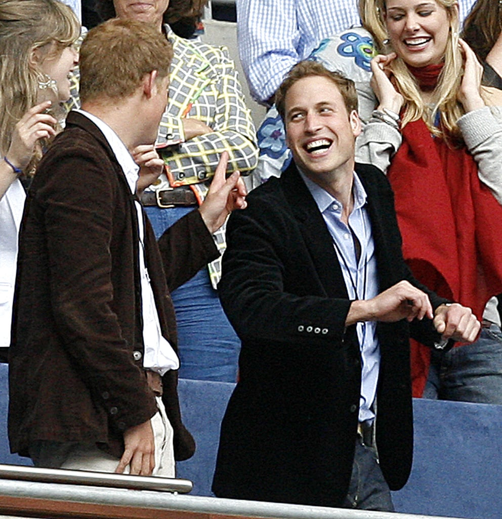 Harry and William at the Concert For Diana in London in July 2007