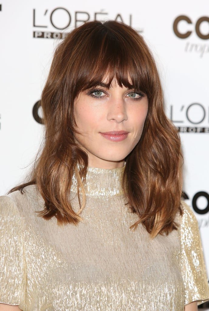 As the new face of L'Oréal hair color, Alexa Chung showed off her lightened strands at the L'Oréal Colour Trophy Awards.