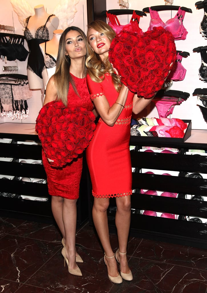 Lily Aldridge And Candice Swanepoel Prep For Valentineu0027s Day With  Victoriau0027s Secret