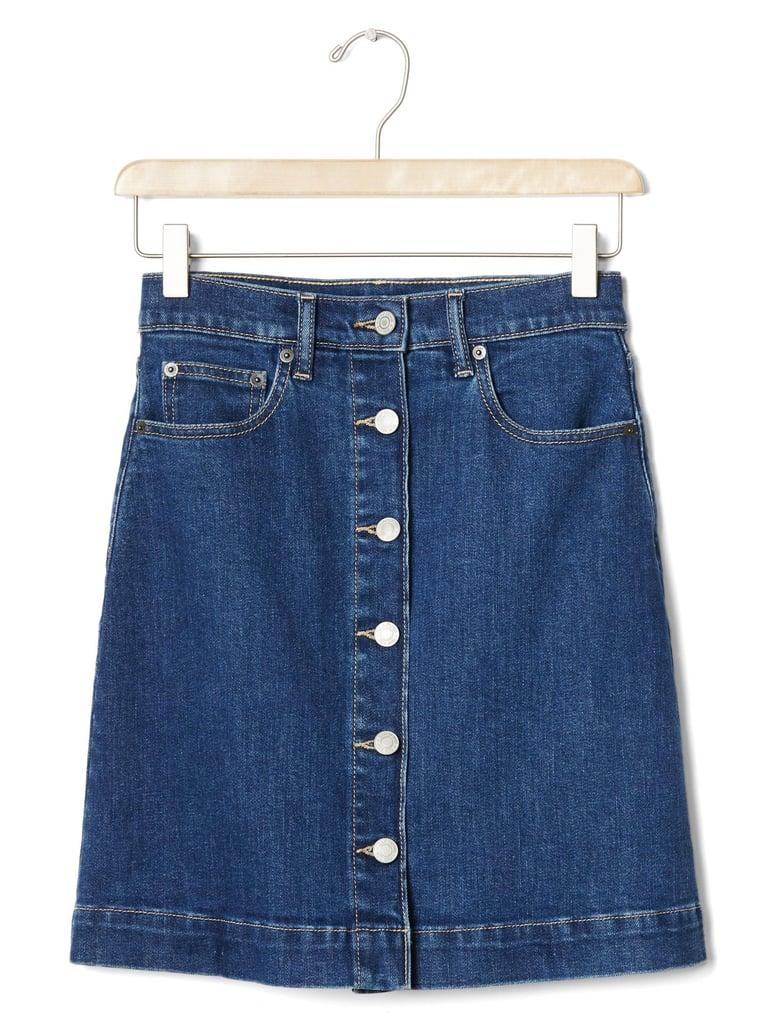 1969 denim miniskirt ($50)