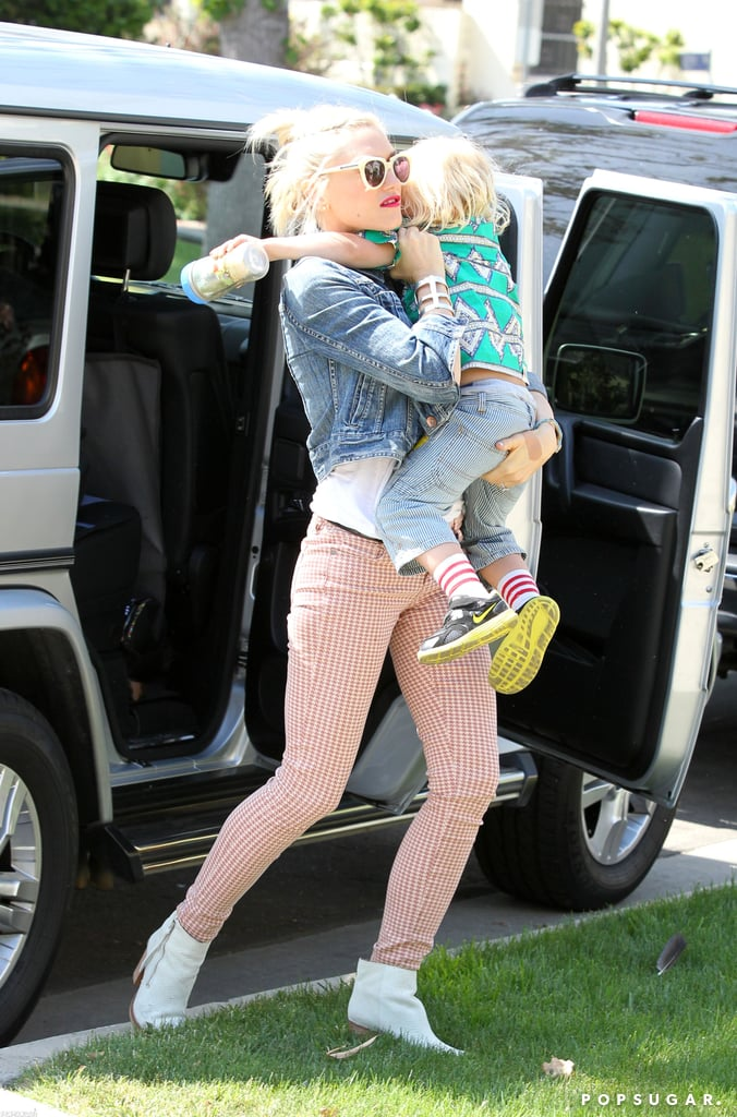 Gwen Stefani carried Zuma on Mother's Day.