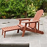 Leisure Season Reclining Patio Adirondack Chair with Pull-Out Ottoman