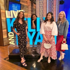 Our fabulous employees showing off summer looks on Live! With Kelly and Ryan