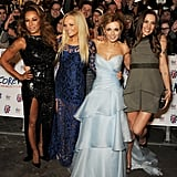 The Spice Girls reunited for the Viva Forever! musical press event held at London's Piccadilly Theatre.