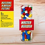 """""""Master Builder"""" badges were created for the staff to wear all week."""