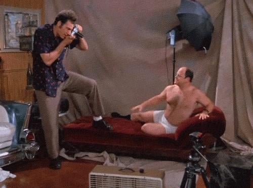 When Kramer and George Have This Awkward Photo Shoot