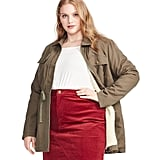East Adeline by Dia&Co Plus Size Sherpa-Lined Utility Jacket