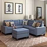 Nealy Symmetrical Sectional With Ottoman