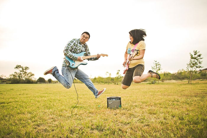 . . . their awesome musical abilities (check out that Hello Kitty guitar)! Photo: Orange Turtle Photography