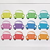 Minted Rainbow Cars Children's Art Print