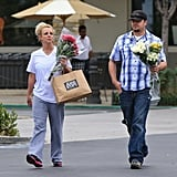 Britney Spears and friend stopped by Gelson's market.