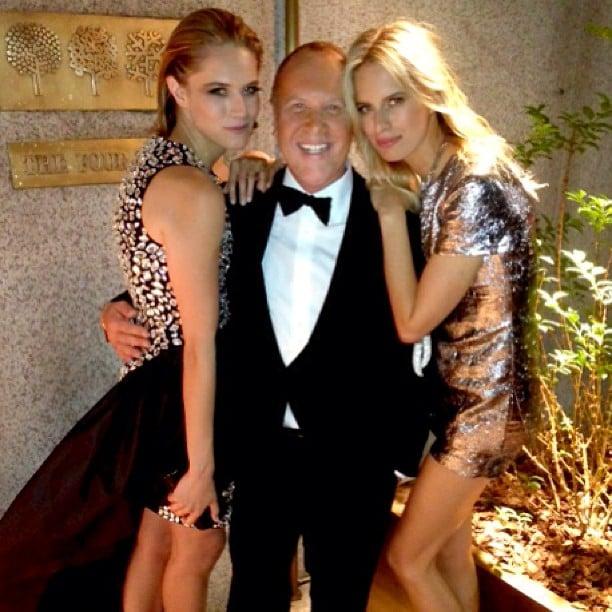 Michael Kors posed with his lovely CFDA Fashion Awards dates, Cody Horn and Karolina Kurkova. Source: Instagram user michaelkors