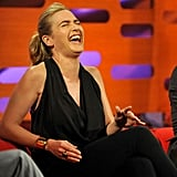 Kate Winslet laughed in London.