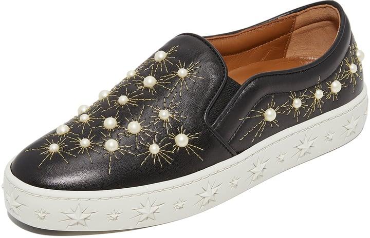 Aquazzura Cosmic Pearls Slip-On Sneakers