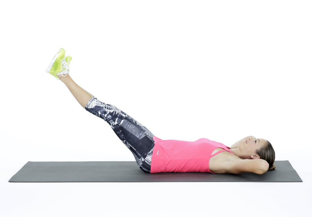 Double Leg Lifts Bed Workout Popsugar Fitness Photo 6