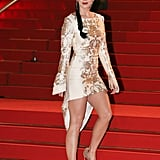 In December 2014, Katy's sexy stems were in the spotlight at the NRJ Music Awards in Cannes.