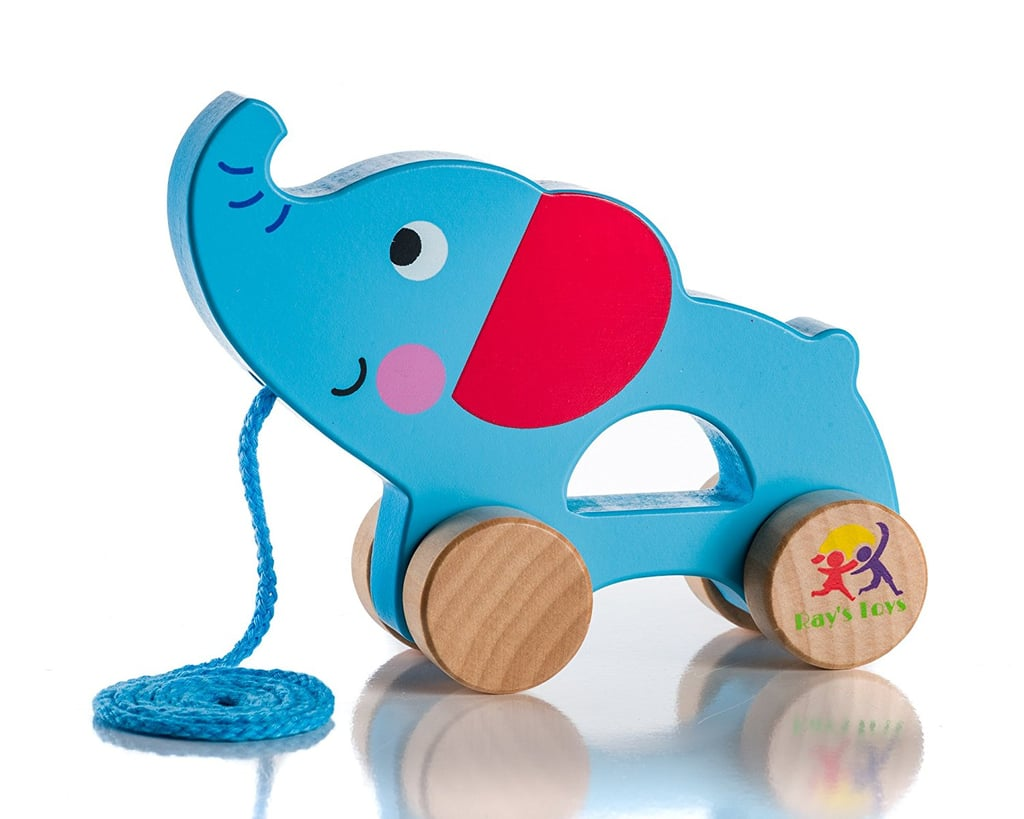 For 1-Year-Olds: Wooden Pull Along Elephant Toy