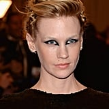 January Jones's Hair and Makeup at the 2013 Met Gala